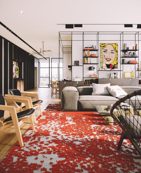 pop art style penthouse in tel aviv free cad blocks drawings