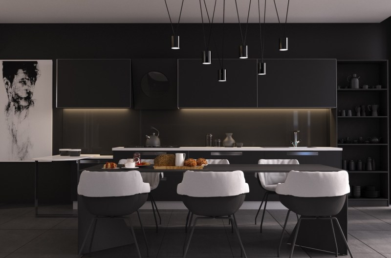 Black Dining Room Decor