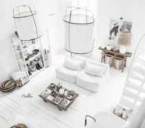 White-living-room-210x185 Home Of Surreal Interiors & Modern Empire Style Upholstery in Victoria