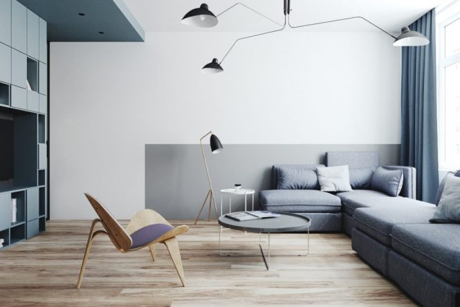 A Blue Oasis Of Minimalist Living