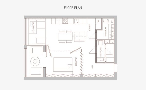 Two Small Apartments A Blue Oasis Of Minimalist Living Free Cad Inspiration Apartments Floor Plans Design Minimalist