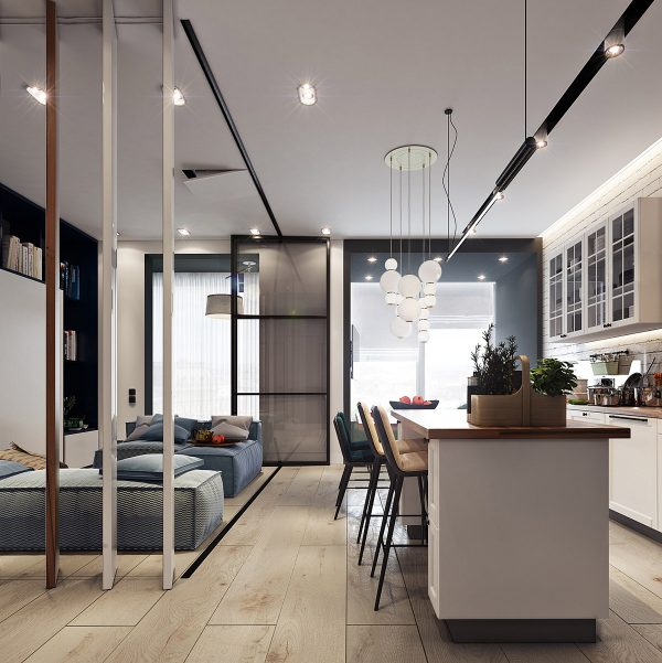Two Small Apartments A Blue Oasis Of Minimalist Living Free Autocad Blocks Drawings Download Center,Patch Work Back Side Simple Blouse Back Neck Designs Images