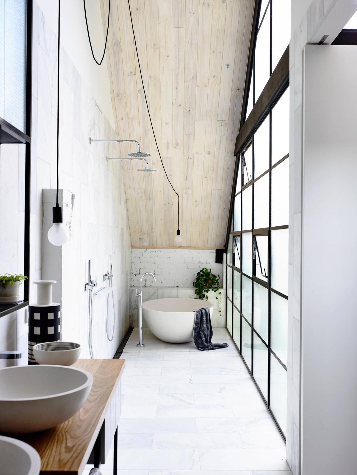 industrial bathroom lighting interior design ideas