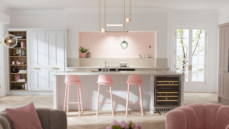 51 Inspirational Pink Kitchens With Tips Accessories To Help You Design Yours