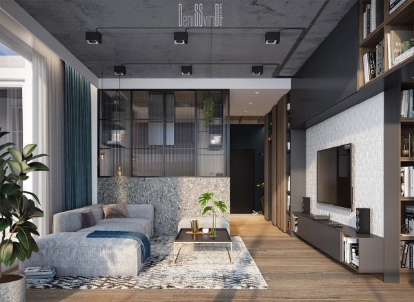 Industrial-style-loft-interior-600x439 Three Industrial Style Lofts WIth Natural Accents Upholstery in Victoria