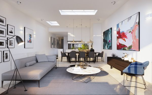 Rooflight-600x375 Indoor Skylights: 37 Beautiful Examples To Tempt You To Have One For Yourself