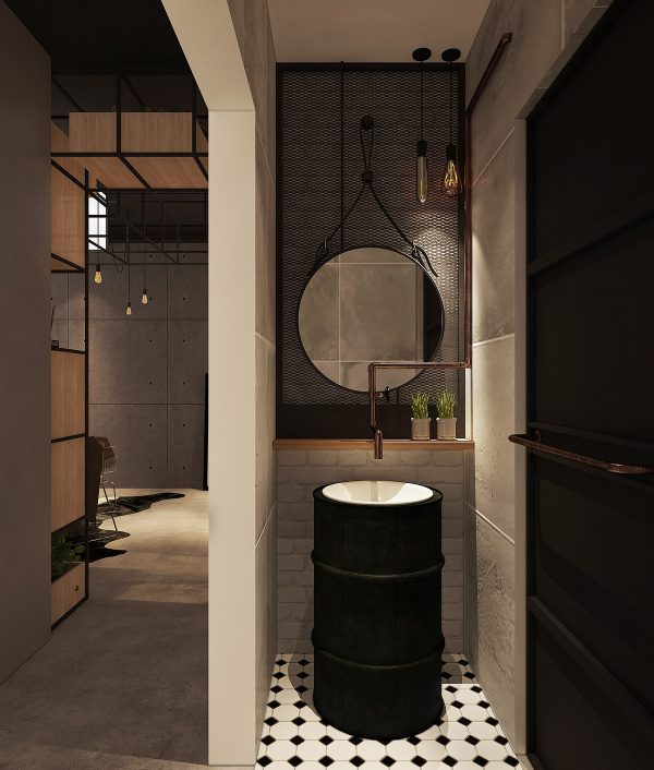 Vanity-mirror-600x706 Three Industrial Style Lofts WIth Natural Accents Upholstery in Victoria