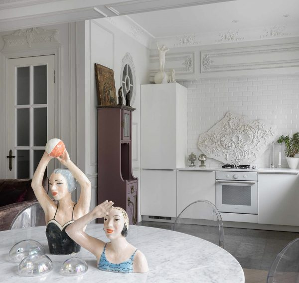 White-kitchen-600x567 Home Of Surreal Interiors & Modern Empire Style Upholstery in Victoria
