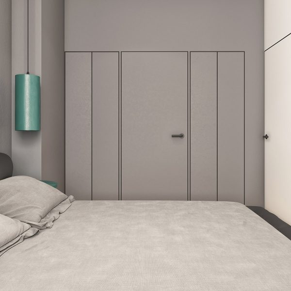 gray-bedroom-interior-design-600x600 Modern Minimalist Apartment Designs Under 75 Square Meters (808 Square Feet) Upholstery in Victoria