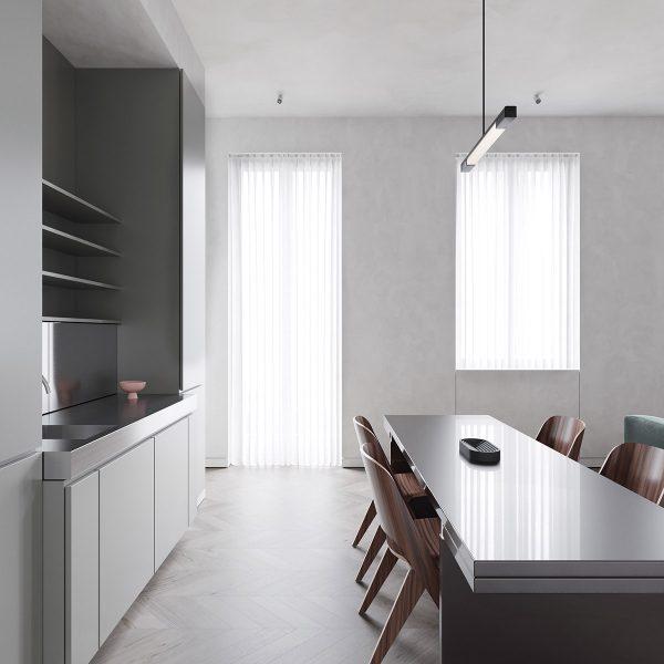 one-wall-ktichen-design-600x600 Modern Minimalist Apartment Designs Under 75 Square Meters (808 Square Feet)
