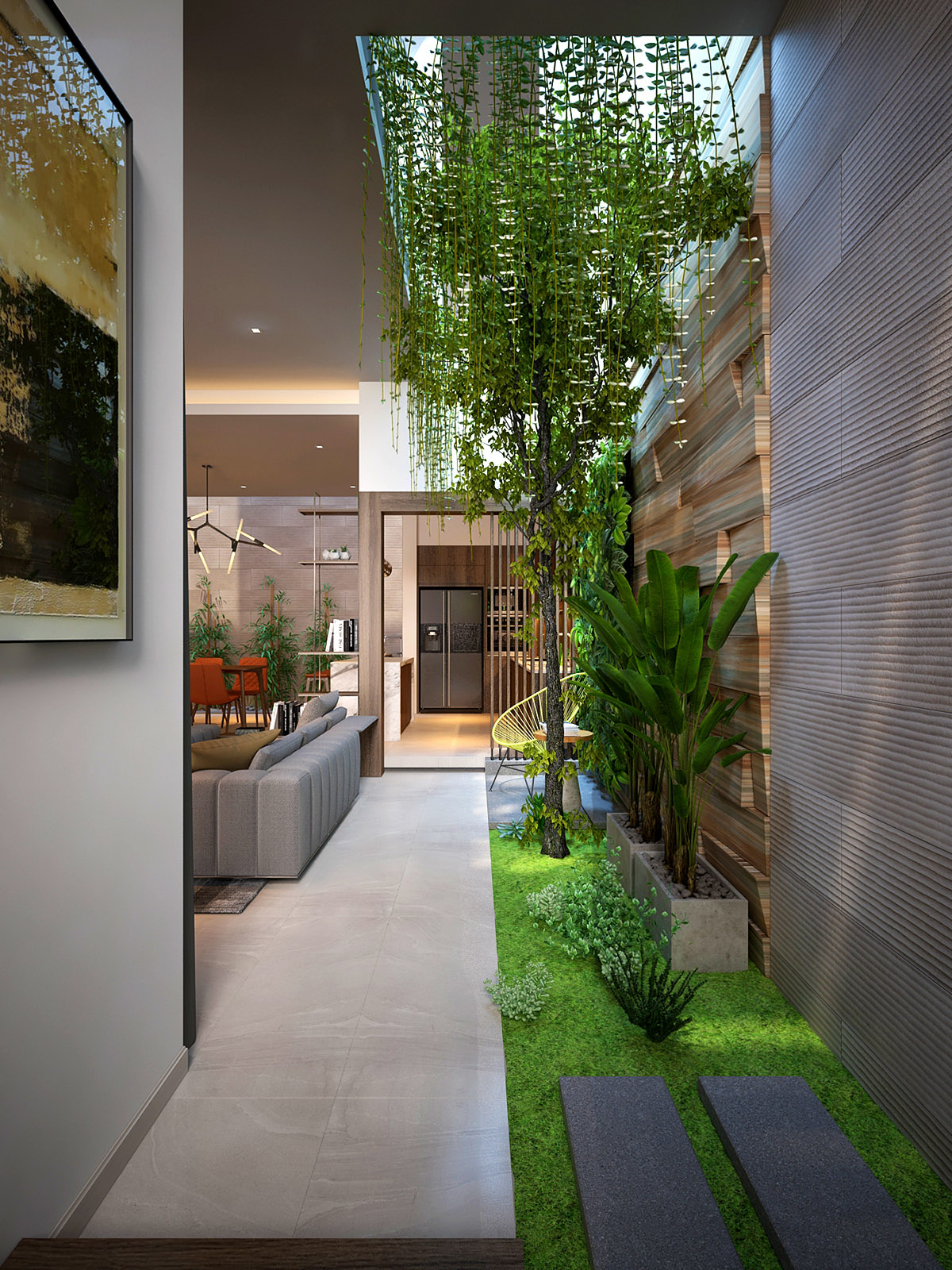 4 Homes That Feature Green Spaces Inside, With Courtyards ... on Garden Living Space id=18598