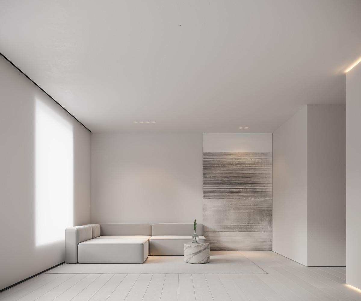 Neutral, Modern-Minimalist Interior Design: 4 Examples ... on Minimalist Living Room Design  id=53363