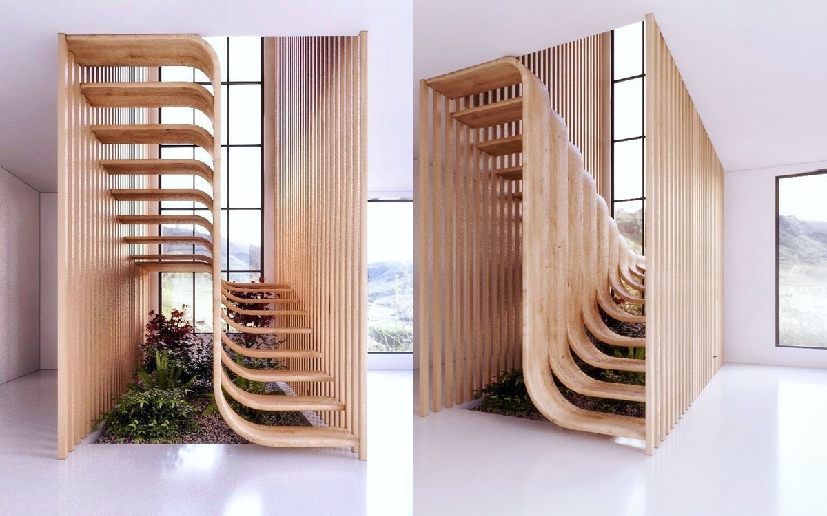 51 Stunning Staircase Design Ideas   Simple House Stairs Design   Staircase Woodwork   Separated   Family House   Outside   Low Budget