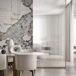 Magnificent Modern Marble Interior With Metallic Accents