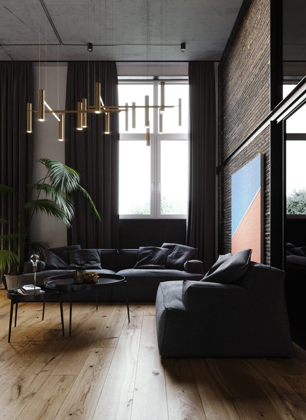 Moody Modern Industrial Interiors With Wood And Concrete Decor Autocad Design Pro Autocad Blocks Drawings Download