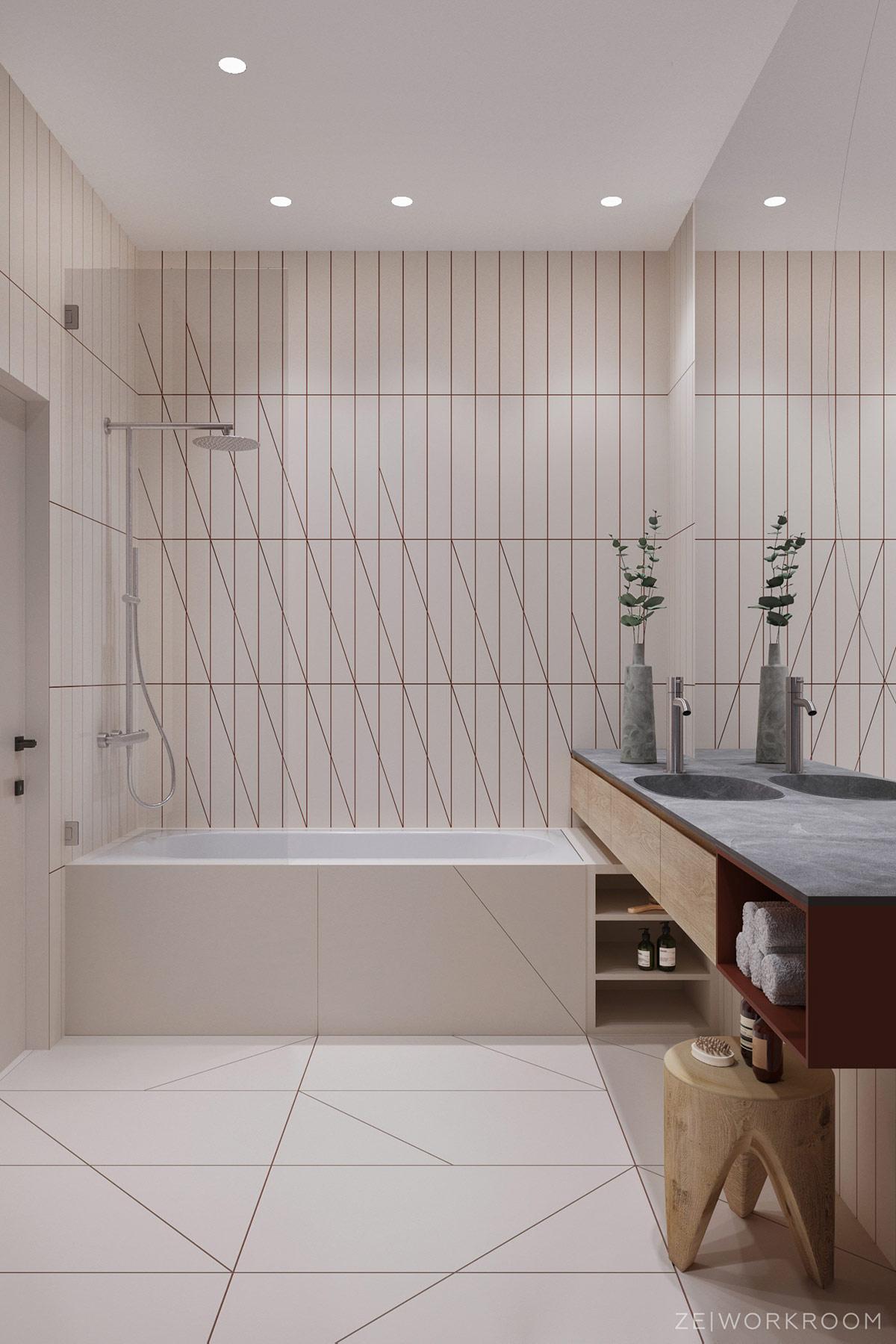 unique bathroom tiles interior design ideas