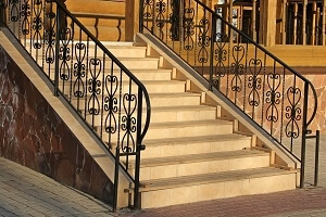 2020 Wrought Iron Railing Cost Install For Stair Porch Balcony | Wrought Iron Railings For Steps | Custom | Metal | 2 Step | Rough Iron | Exterior