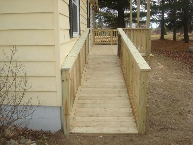 Traditional Deck In Pinckney Handicap Ramp Pressure