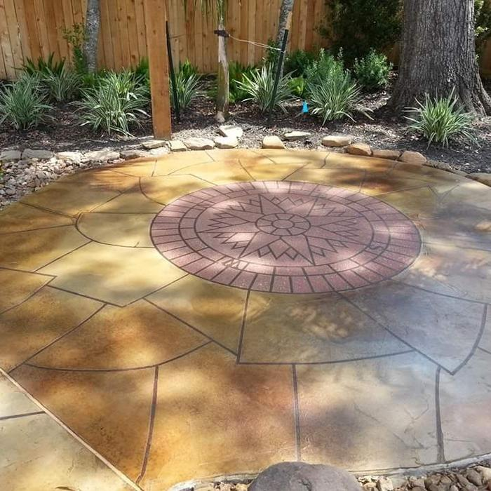 2017 Stamped Concrete Patio Cost Calculator | How Much to ... on Square Concrete Patio Ideas  id=34888