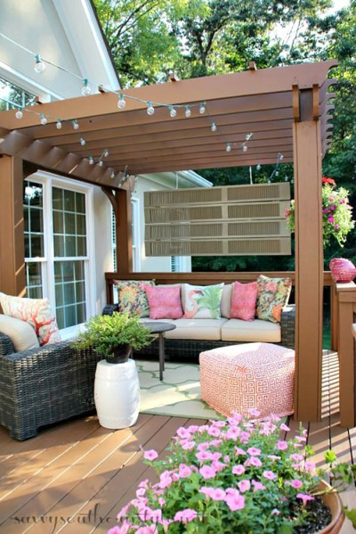 outdoor patio decorating ideas Backyard Landscape: 16 Amazing DIY Patio Decoration Ideas