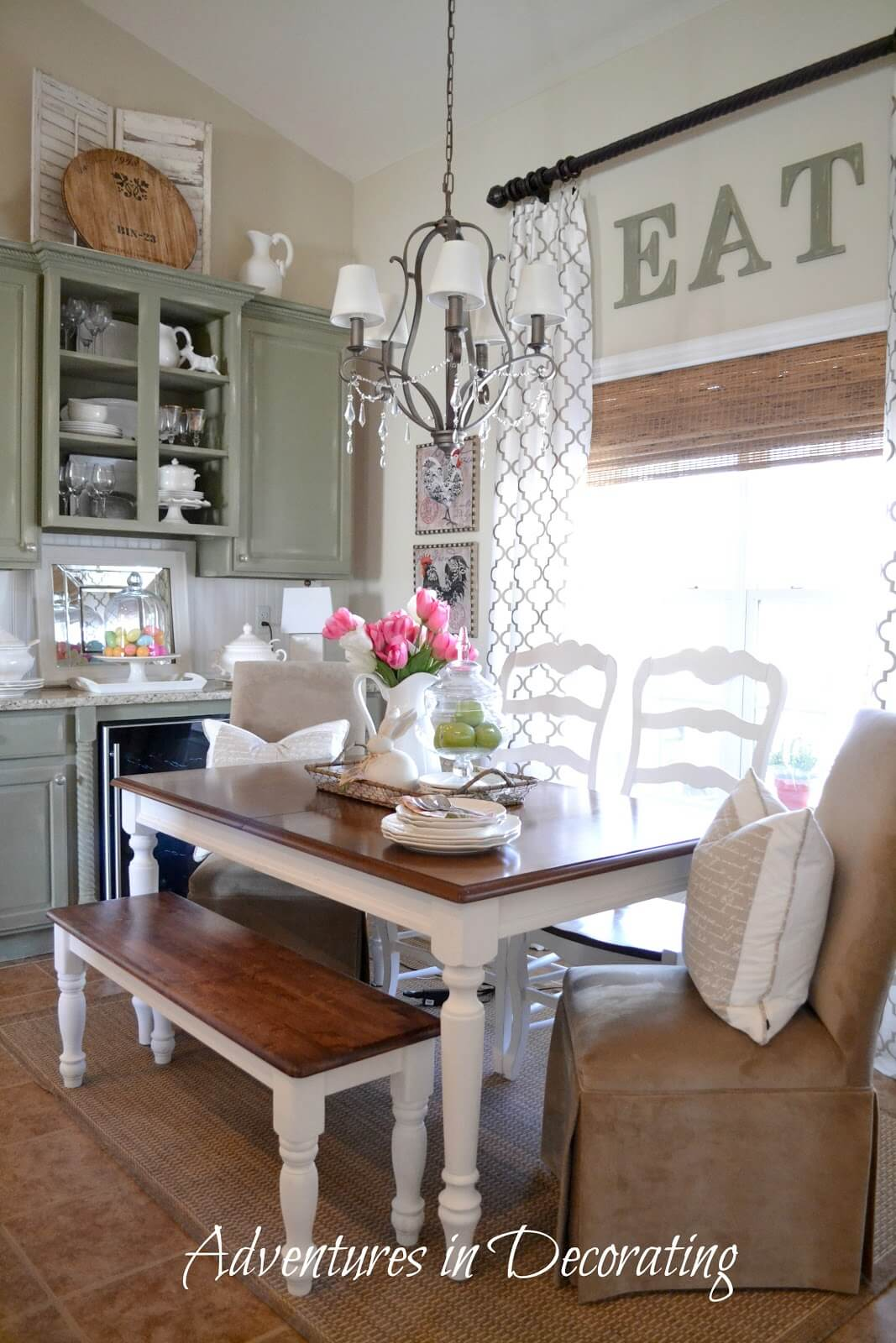 37 Best Farmhouse Dining Room Design and Decor Ideas for 2017 on Farmhouse Dining Room Curtain Ideas  id=62822