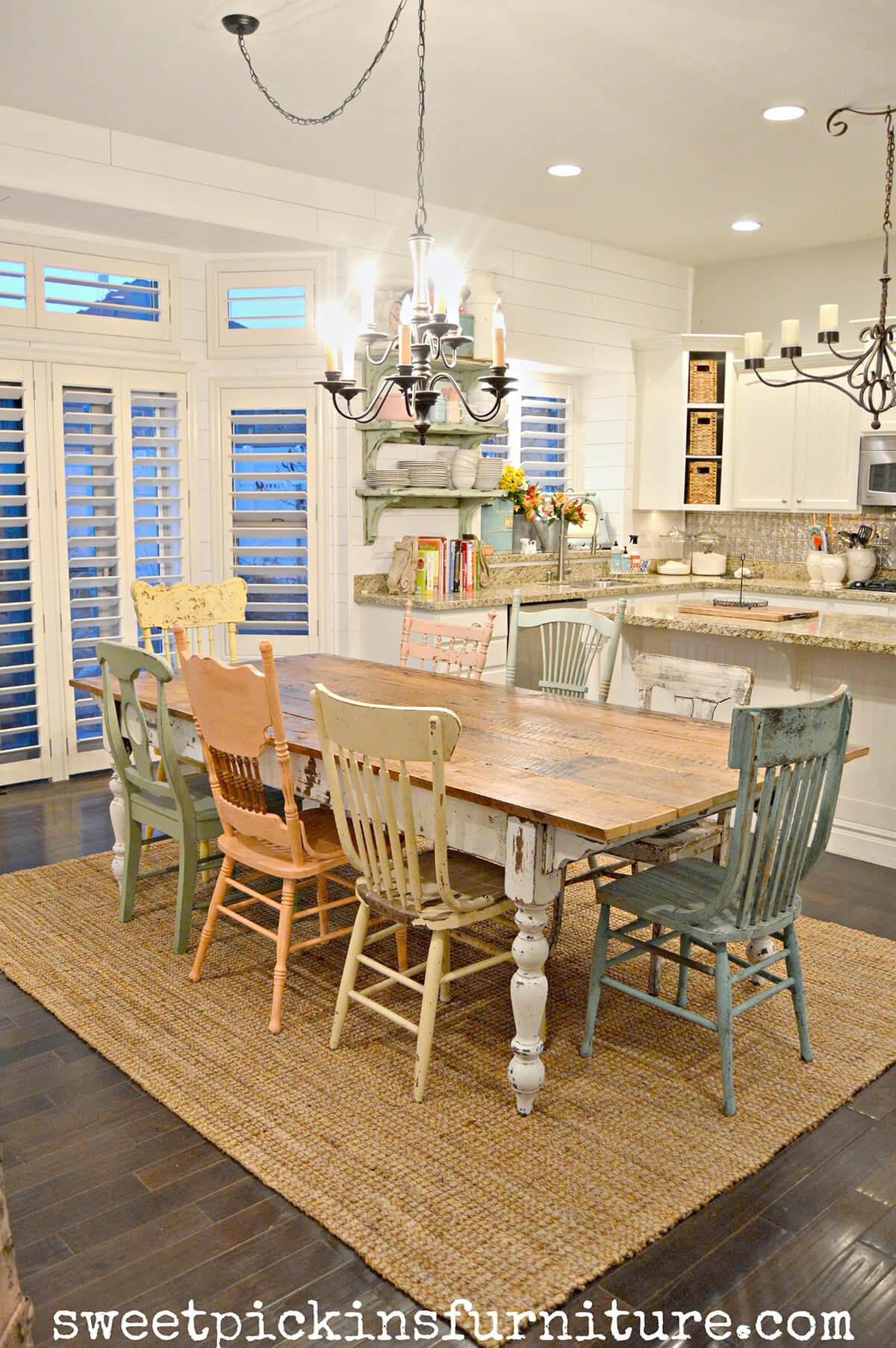 17 Charming Farmhouse Dining Room Design And Decor Ideas
