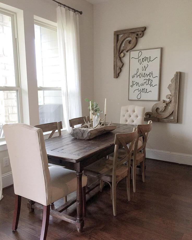 37 Best Farmhouse Dining Room Design and Decor Ideas for 2017 on Dining Room Curtains Ideas  id=70542