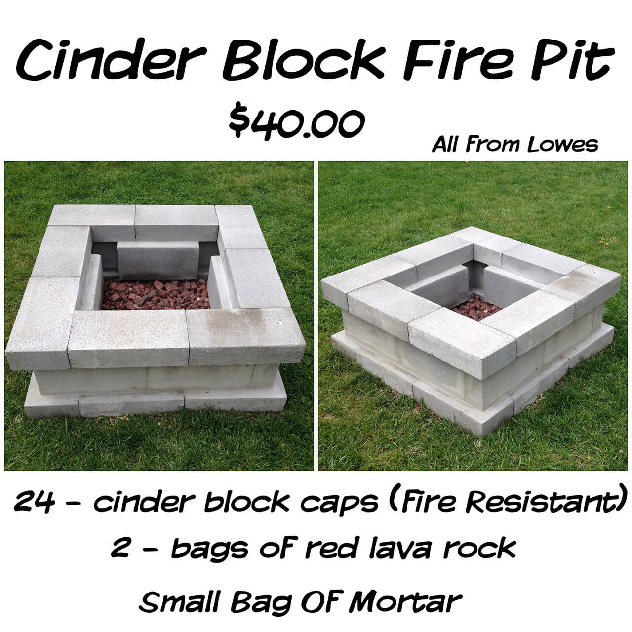 27 Best DIY Firepit Ideas and Designs for 2017 on Cinder Block Fireplace Diy  id=93700