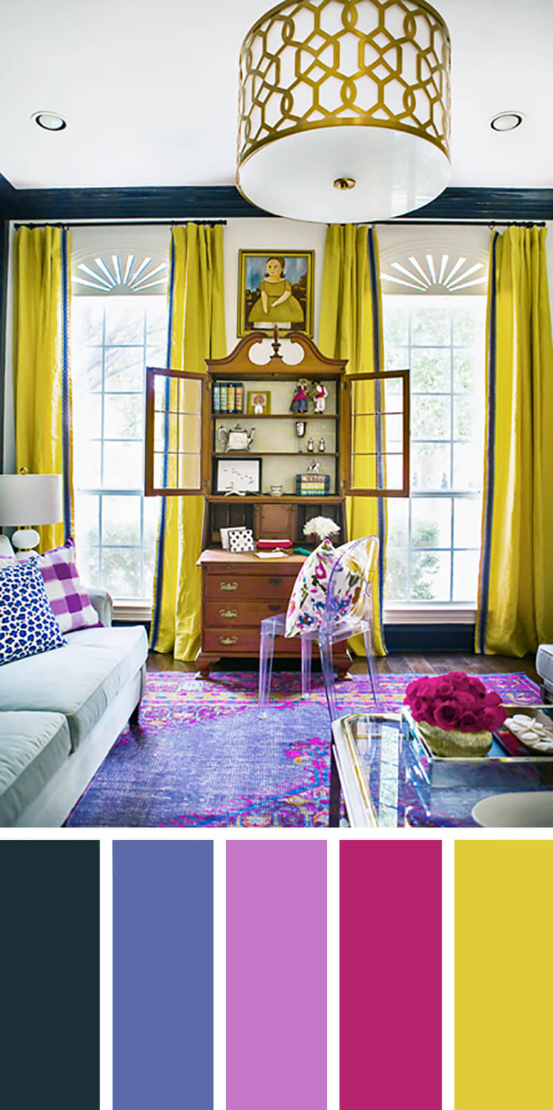 7 Best Living Room Color Scheme Ideas and Designs for 2017 on Colourful Living Room  id=86450