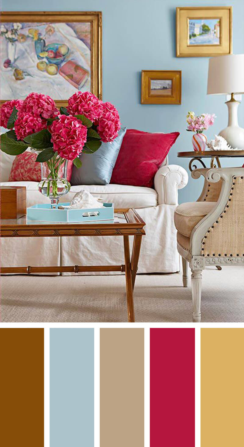 7 Best Living Room Color Scheme Ideas and Designs for 2017 on Colourful Living Room  id=27881