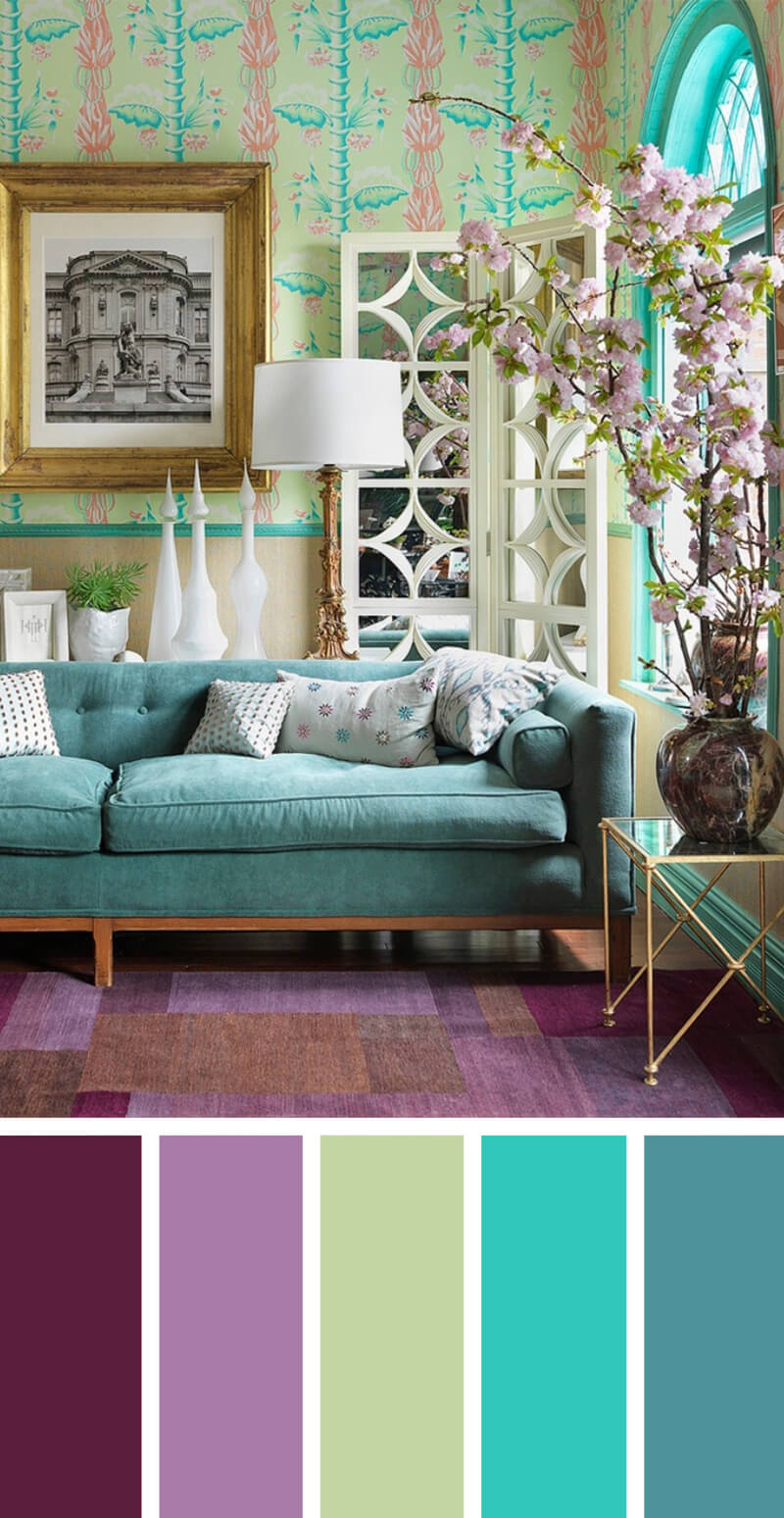 7 Best Living Room Color Scheme Ideas and Designs for 2017 on Colourful Living Room  id=33247