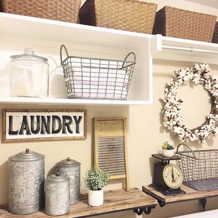 25 Best Vintage Laundry Room Decor Ideas and Designs for 2017 on Laundry Decoration  id=49019