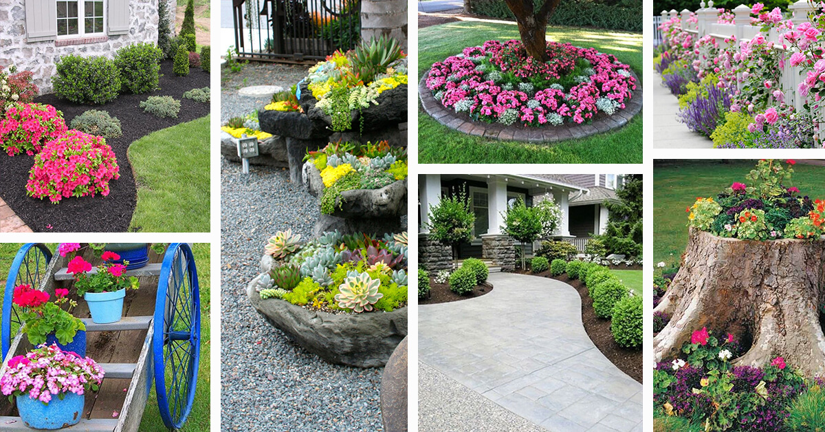 50 Best Front Yard Landscaping Ideas and Garden Designs ... on Patio And Grass Garden Ideas id=70092