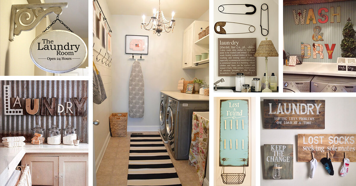25 Best Vintage Laundry Room Decor Ideas and Designs for 2017 on Laundry Decor Ideas  id=78820