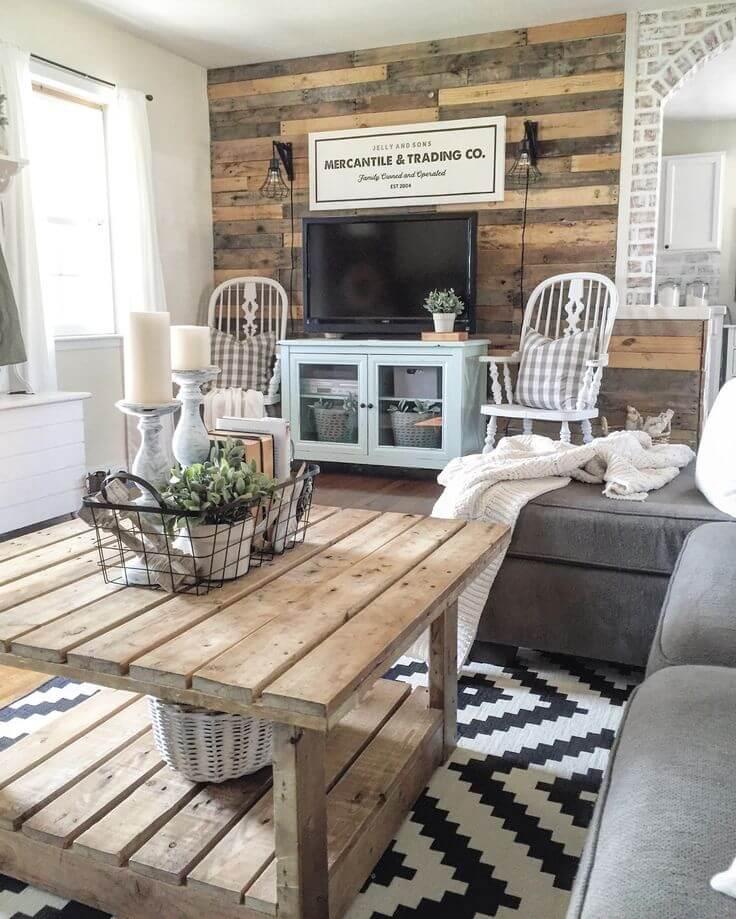 35 Best Farmhouse Living Room Decor Ideas and Designs for 2017 on Farmhouse Living Room Curtain Ideas  id=64714