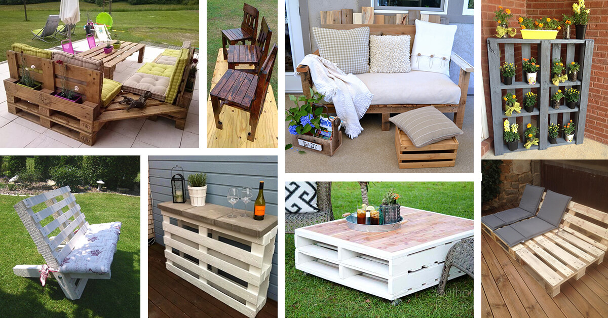 27 Best Outdoor Pallet Furniture Ideas and Designs for 2017 on Pallet Design Ideas  id=98134