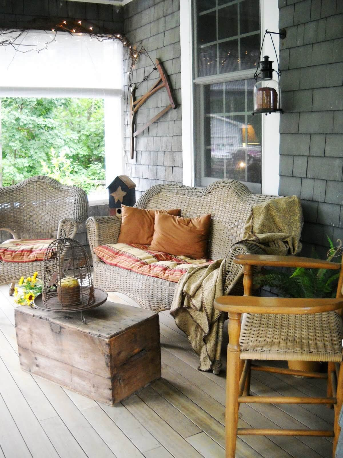 47 Best Rustic Farmhouse Porch Decor Ideas and Designs for ... on Country Patio Ideas id=69677