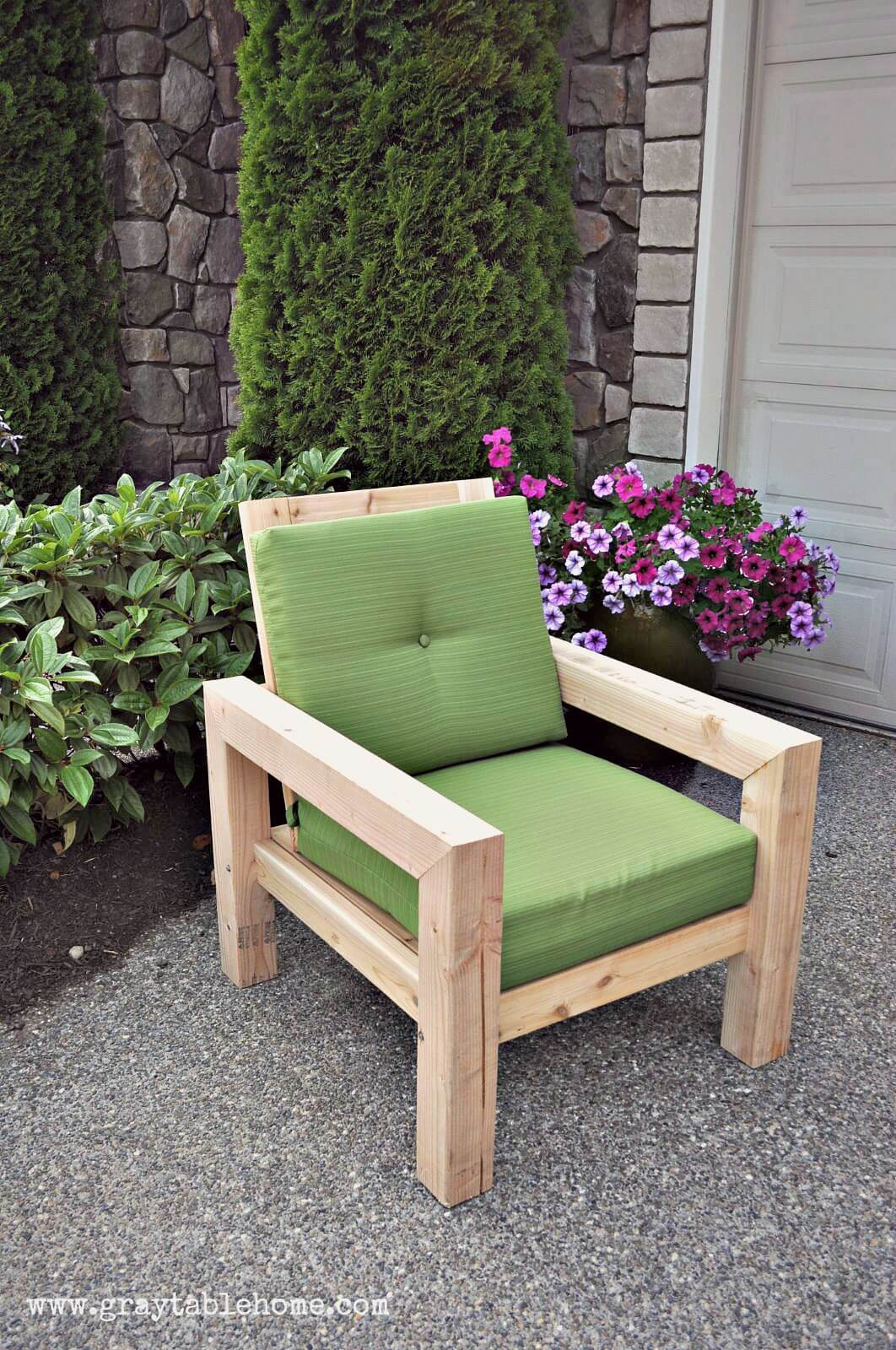 29 Best DIY Outdoor Furniture Projects (Ideas and Designs ... on Diy Garden Patio Ideas id=41062