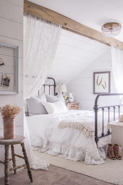 39 Best Farmhouse Bedroom Design and Decor Ideas for 2017 on Farmhouse Curtains Ideas  id=37203