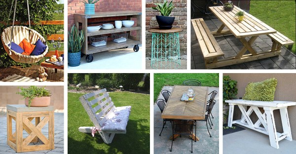 outdoor patio furniture ideas 29 Best DIY Outdoor Furniture Projects (Ideas and Designs