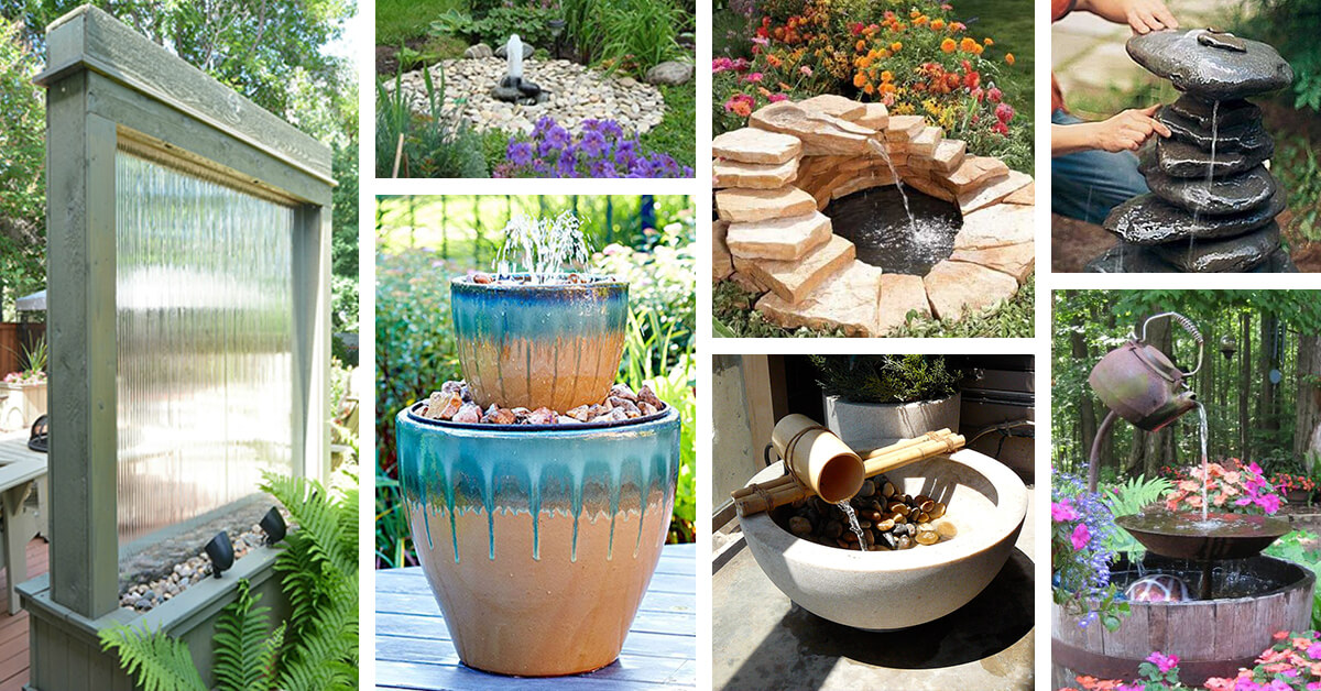 24 Best DIY Water Feature Ideas and Designs for 2017 on Water Feature Ideas For Patio id=41632