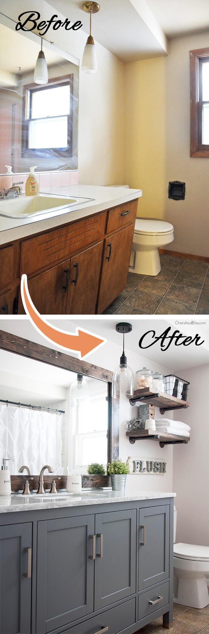 28 Best Budget Friendly Bathroom Makeover Ideas and ... on Bathroom Ideas On A Budget  id=41444