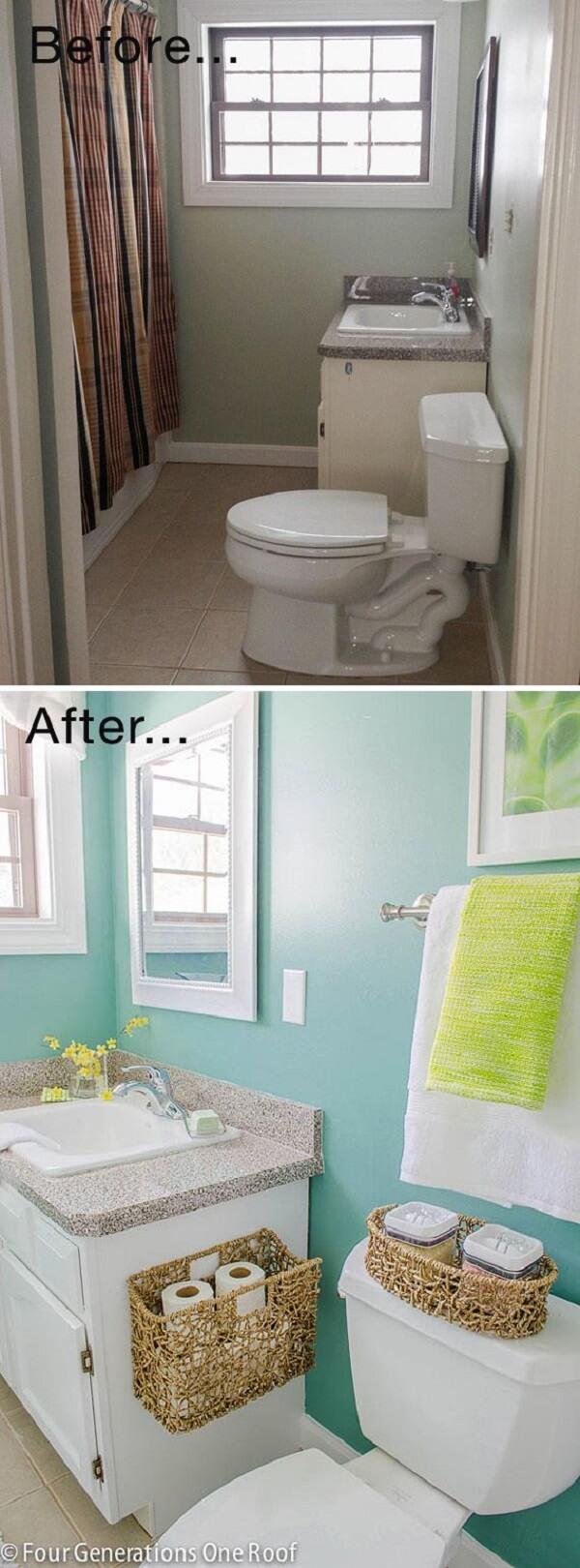 28 Best Budget Friendly Bathroom Makeover Ideas and ... on Small Space Small Bathroom Ideas On A Budget id=64374