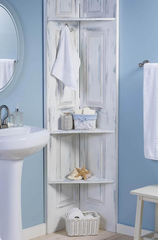 25+ Best DIY Bathroom Shelf Ideas and Designs for 2017 on Bathroom Corner Shelf  id=72536