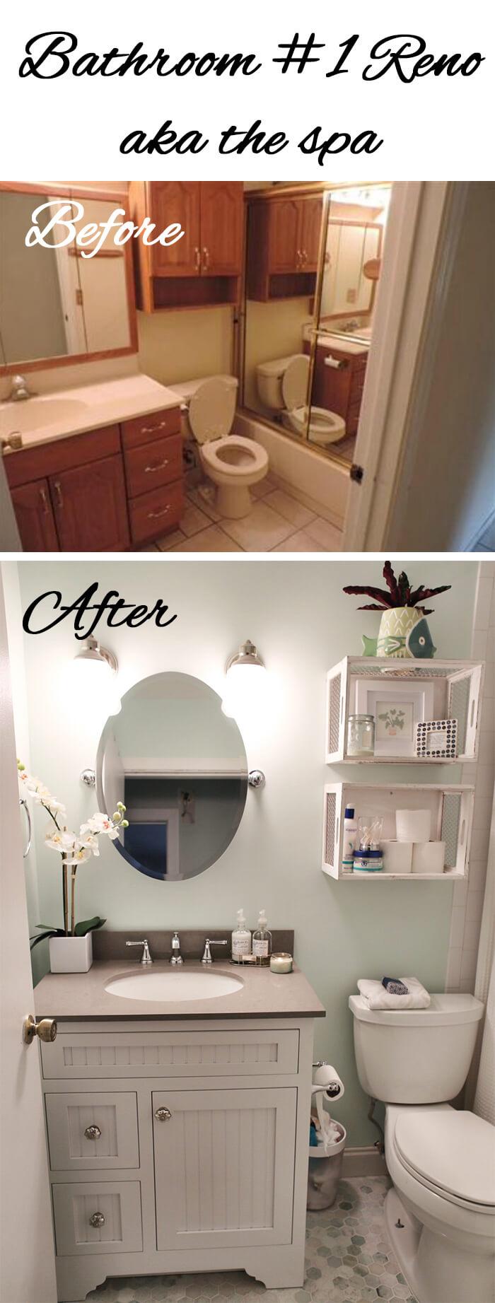 28 Best Budget Friendly Bathroom Makeover Ideas and ... on Bathroom Ideas On A Budget  id=91126