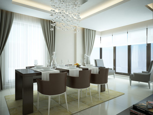 Soothing Dining Room Design