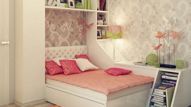 20 Stylish Teenage Girls Bedroom Ideas   Home Design Lover on Teenage Simple Bedroom Ideas For Small Rooms  id=19775