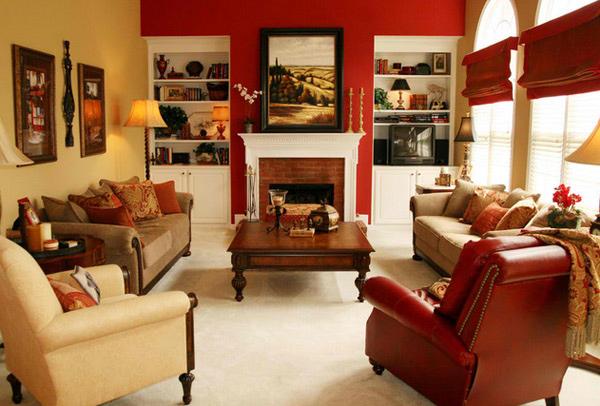 15 Red Themed Living Room Designs Home Design Lover
