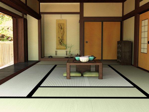 japanese style living room interior design