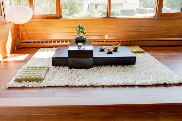 modern japanese living room layout